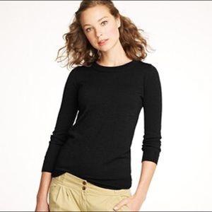 J. Crew navy pullover wool long-sleeve sweater